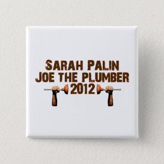 Palin Joe der Klempner 2012 Quadratischer Button 5,1 Cm