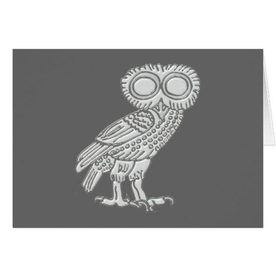 Pallas Athene Athena Eule owl Karte