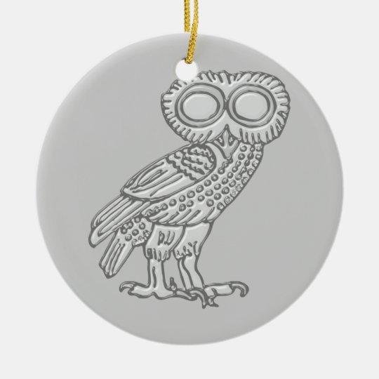Pallas Athene Athena Eule owl Keramik Ornament