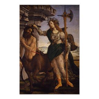 Pallas und der Zentaur durch Botticelli Poster