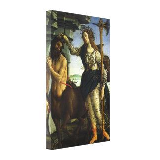 Pallas und der Zentaur durch Sandro Botticelli Leinwanddruck