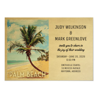 Palm Beach, das Einladungs-Strand-Palme Wedding Karte