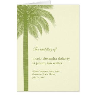 Palm Beach, das Programm-Karte - Grün Wedding ist Grußkarte