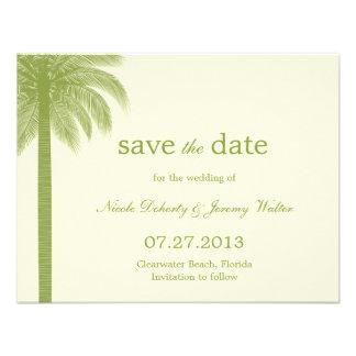 Palm Beach, das Save the Date Karten - Grün Individuelle Ankündigskarten