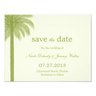 Palm Beach, das Save the Date Karten - Grün 10,8 X 14 Cm Einladungskarte