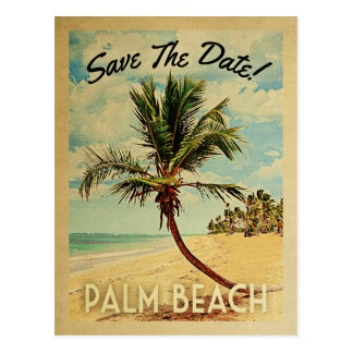 Palm Beach Florida Save the Date Vintag Postkarte