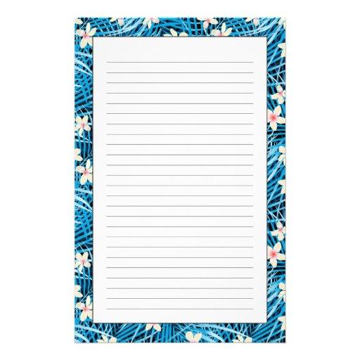 Palmblatt-Blau-Muster Druckpapiere
