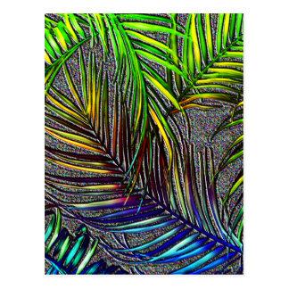 Palmblatt-Kunst Postkarte