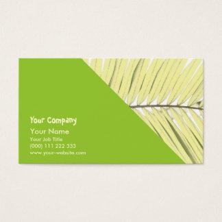 Palmblatt Visitenkarte