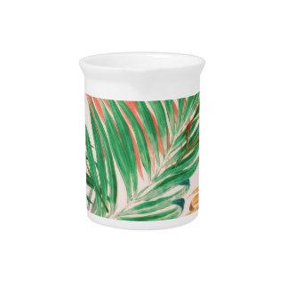 Palmblätter in der Farbe Getränke Pitcher