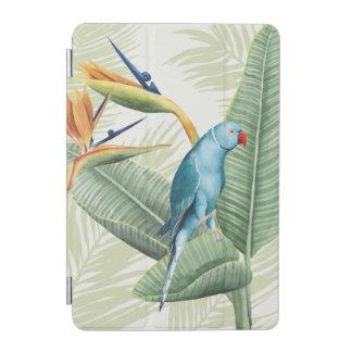 Palmblätter mit blauem Vogel iPad Mini Hülle