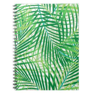 Palmblätter Spiral Notizblock
