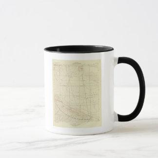 Palmdale Viereck, das San- Andreasriß zeigt Tasse