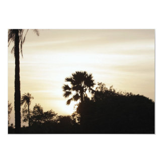 Palme am Sonnenuntergang 12,7 X 17,8 Cm Einladungskarte
