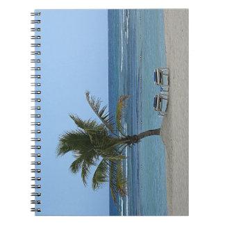Palme auf dem Strand Spiral Notizblock
