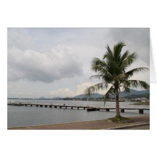 Palme auf einem Kai Karte