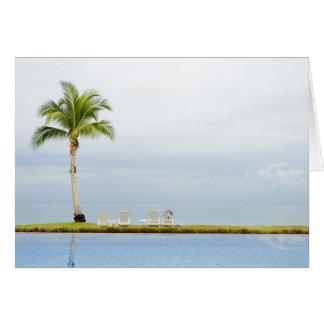 Palme durch einen Swimmingpool Karte