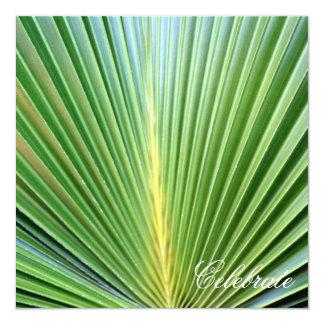 Palme Quadratische 13,3 Cm Einladungskarte