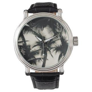 Palme-Foto-Uhr durch Willowcatdesigns Uhr