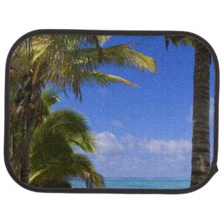 Palme gezeichnete Strand Cookinseln 2 Automatte