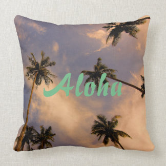 Palme-Hawaiialoha Foto des Paradieses tropisches Kissen