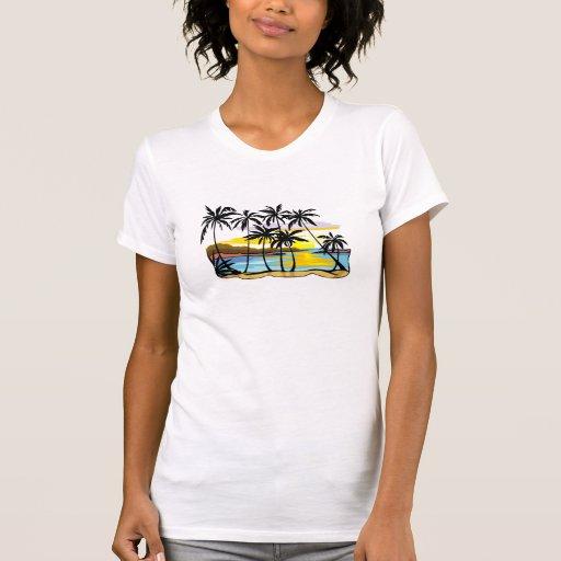 Palme-Hintergrund Shirts