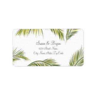 Palme-Hochzeits-Adressen-Etikett Adressaufkleber