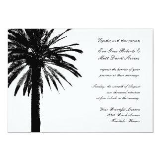 Palme-Hochzeitseinladungen tropisches | lädt ein 12,7 X 17,8 Cm Einladungskarte