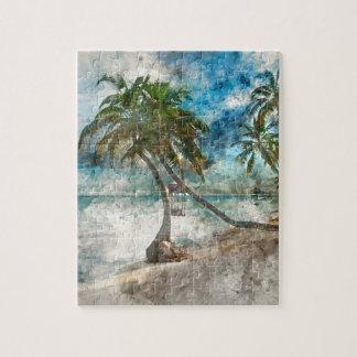Palme im Amber Caye Belize Puzzle