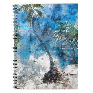 Palme im Amber Caye Belize Spiral Notizblock