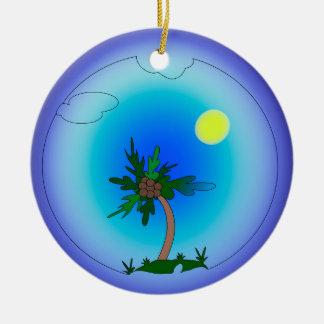Palme Keramik Ornament