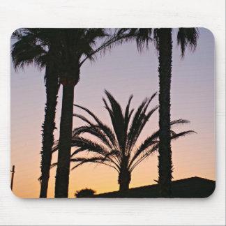 Palme-lila Sonnenuntergang-Fotografie Mousepad