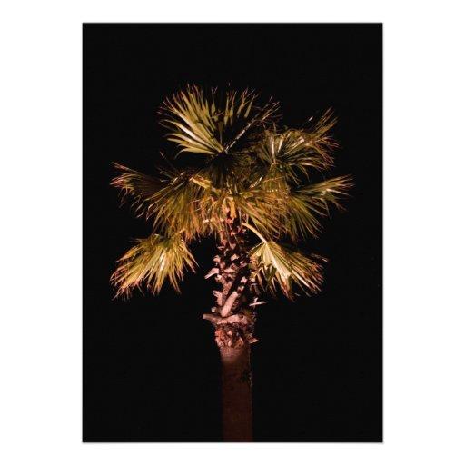 Palme nachts personalisierte einladungskarten