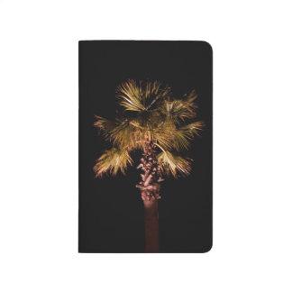 Palme nachts taschennotizbuch