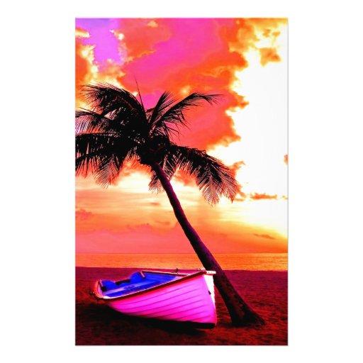 Palme-Palmenozean-Sommerferien-Bootsstrand Büropapier