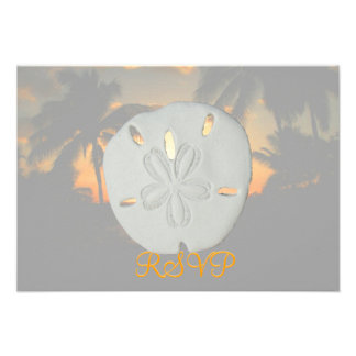 Palme Sanddollar Ankündigungskarte