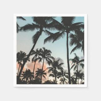 Palme-Silhouetten Serviette
