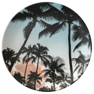 Palme-Silhouetten Teller