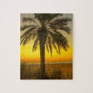 Palme-Sonnenaufgang Puzzle