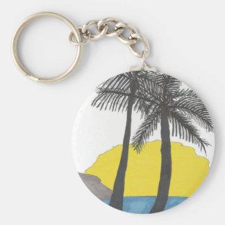 Palme-Sonnenaufgang Schlüsselanhänger