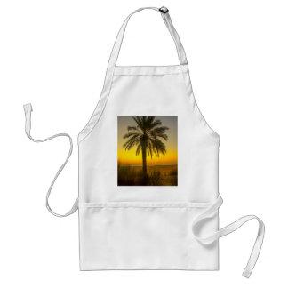 Palme-Sonnenaufgang Schürze