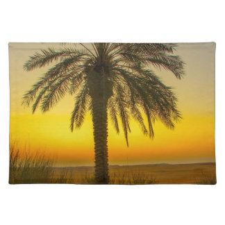 Palme-Sonnenaufgang Tischset