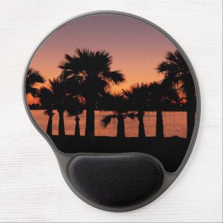 Palme-Sonnenuntergang-Friedensstrand bunt Gel Mouse Pad