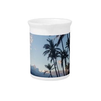Palme-Sonnenuntergang Krug