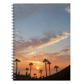Palme-Sonnenuntergang Notizblock