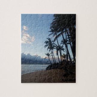 Palme-Sonnenuntergang Puzzle