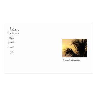 Palme-Sonnenuntergang-Visitenkarte Visitenkarten