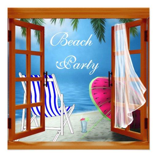 Palme-Strand-erwachsenes Strand-Party Ankündigungen