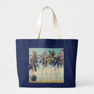 Palme-Strand-Ferien-Tasche Jumbo Stoffbeutel