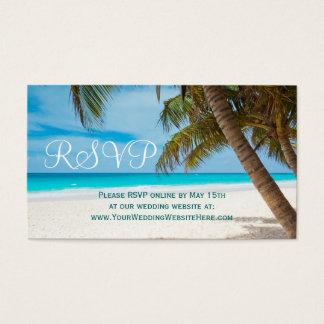 Palme-Strand-Hochzeit in Urlaubsort UAWG Karten
